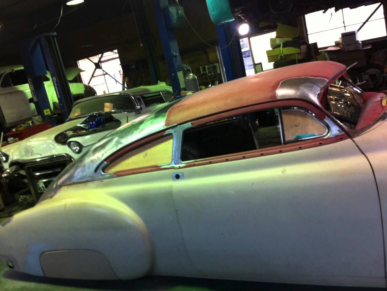 1949 Chevy Fleetline Chopped Top 3 Kustom Auto Body Work Kustom Cool Old Cars
