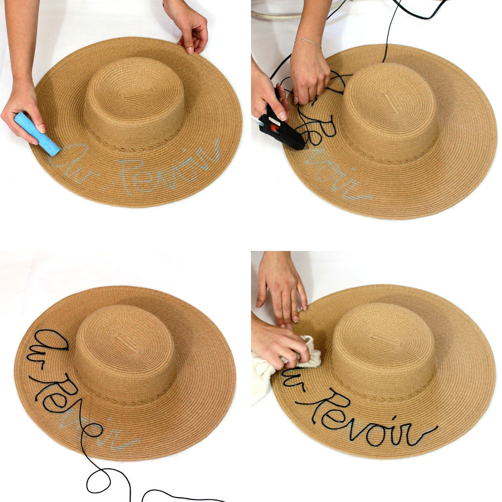 8 Easy Steps To Create Your Own #diy Straw Hat! Stilettobeats