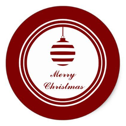 Noel merry christmas holiday red and white classic round sticker christmas stickers xmas eve custom holiday merry christmas