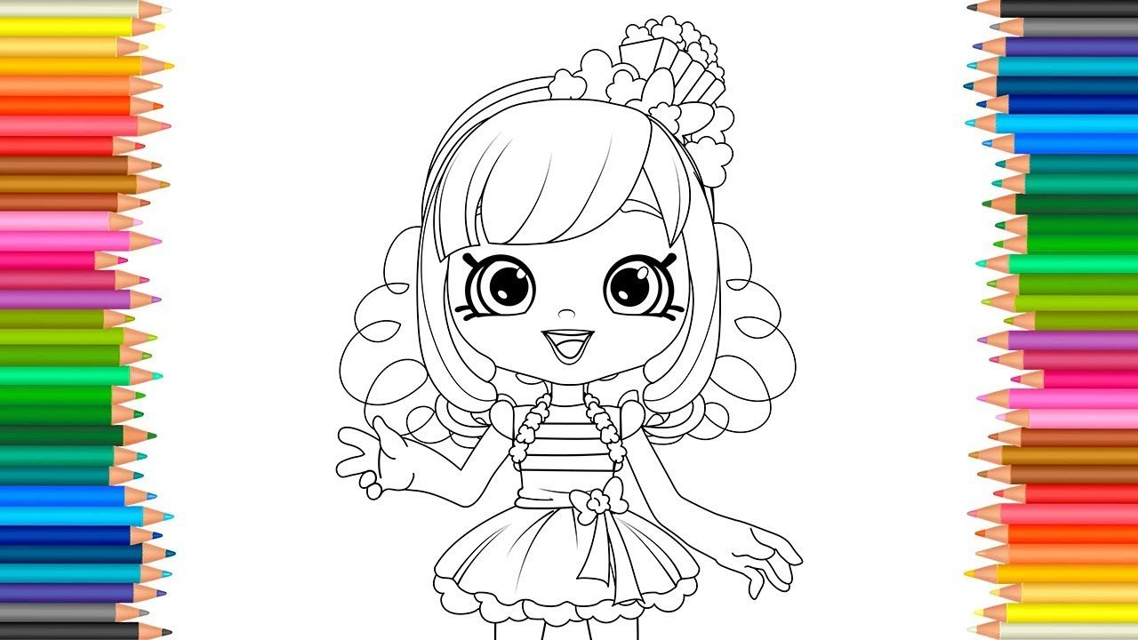 Shoppies coloring pages shopkins coloring book video for children learn