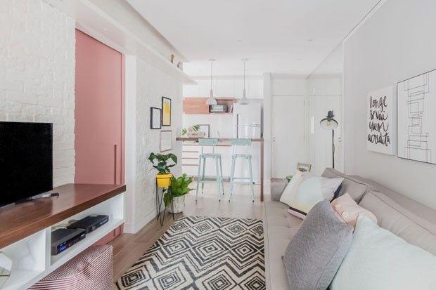 Um apartamento pequeno, jovem e moderno na Vila Mariana, em São - departamento de soltero moderno pequeo