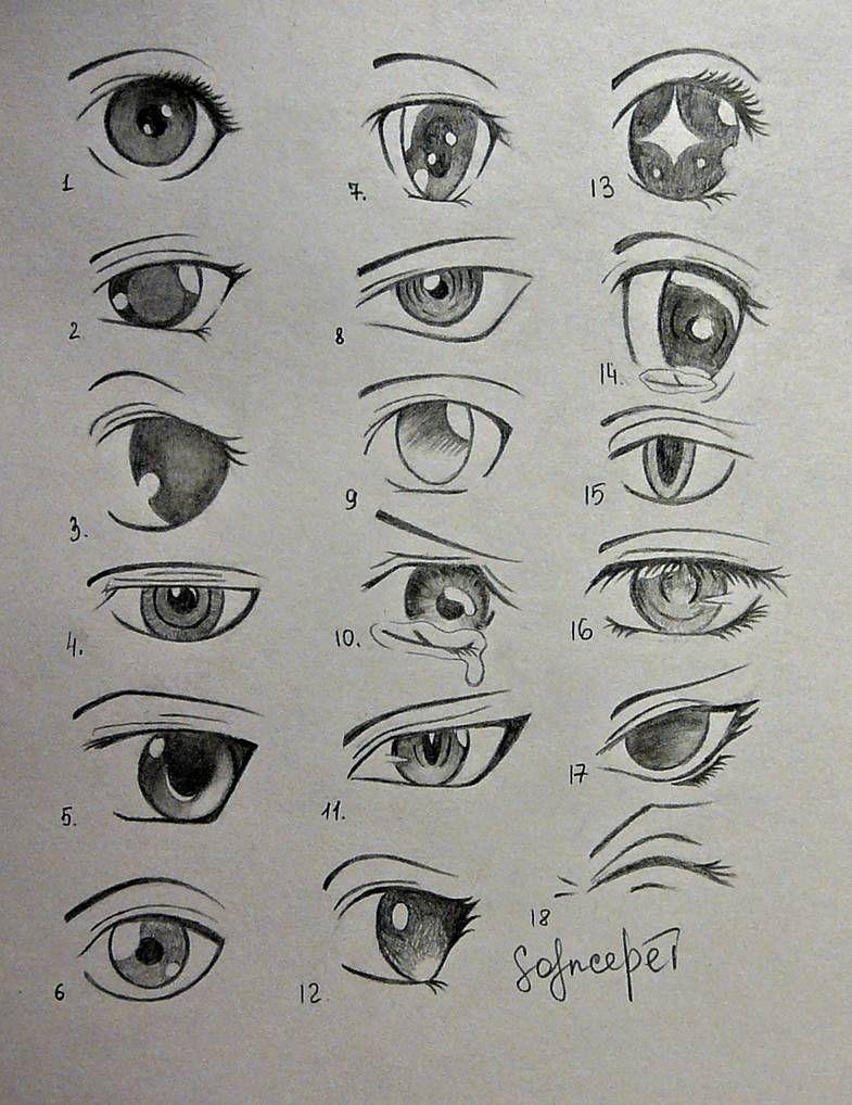 anime eyes.. by SolnceDei on DeviantArt