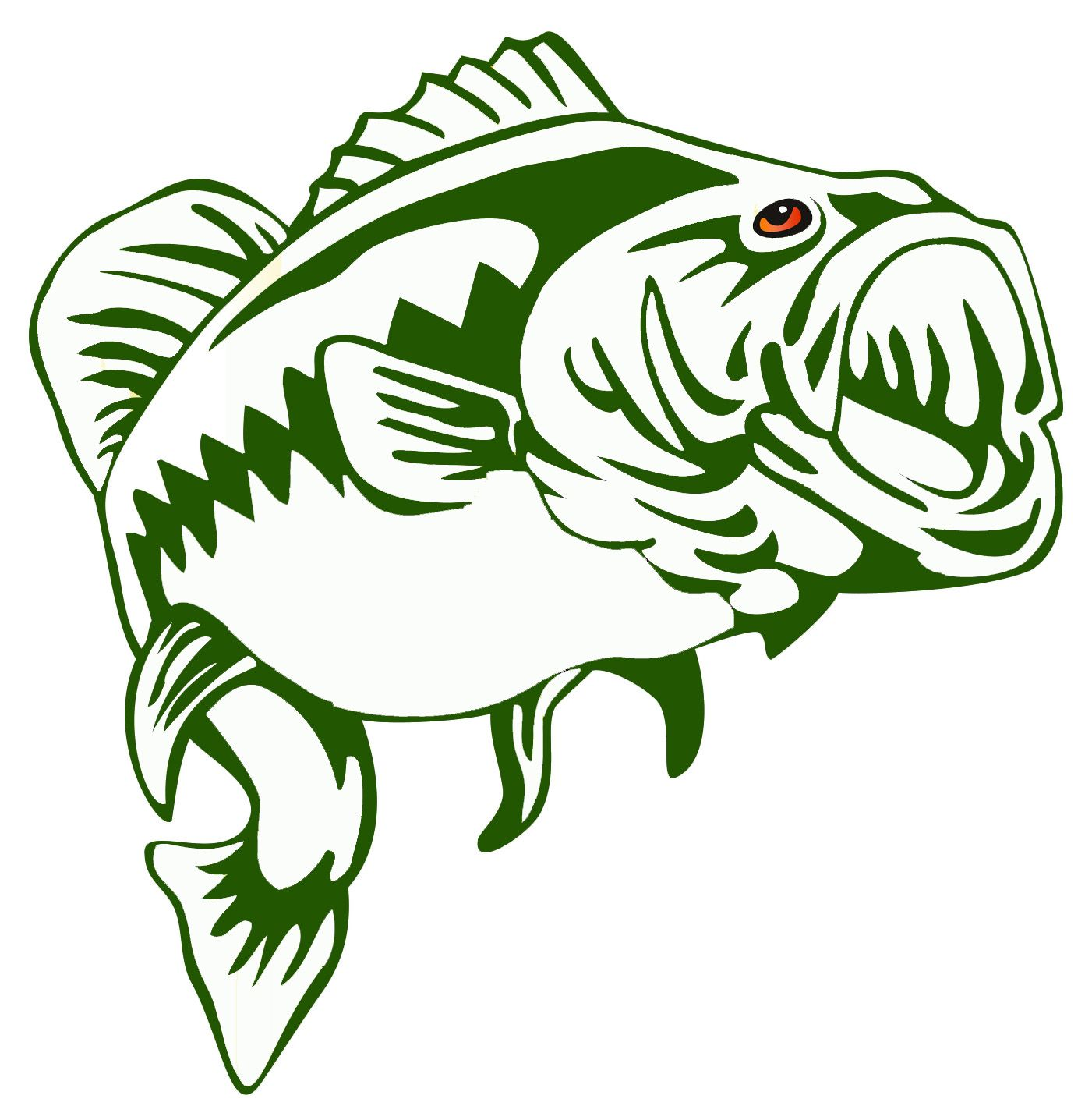 Largemouth Bass Outline Frees That You Can Download To Clipart | cut ...