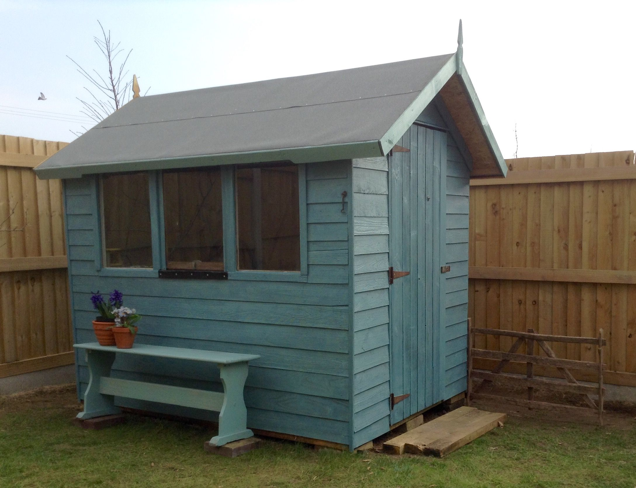 Garden Sheds Exeter my writing shed. lovely old re-purposed garden shed painted with