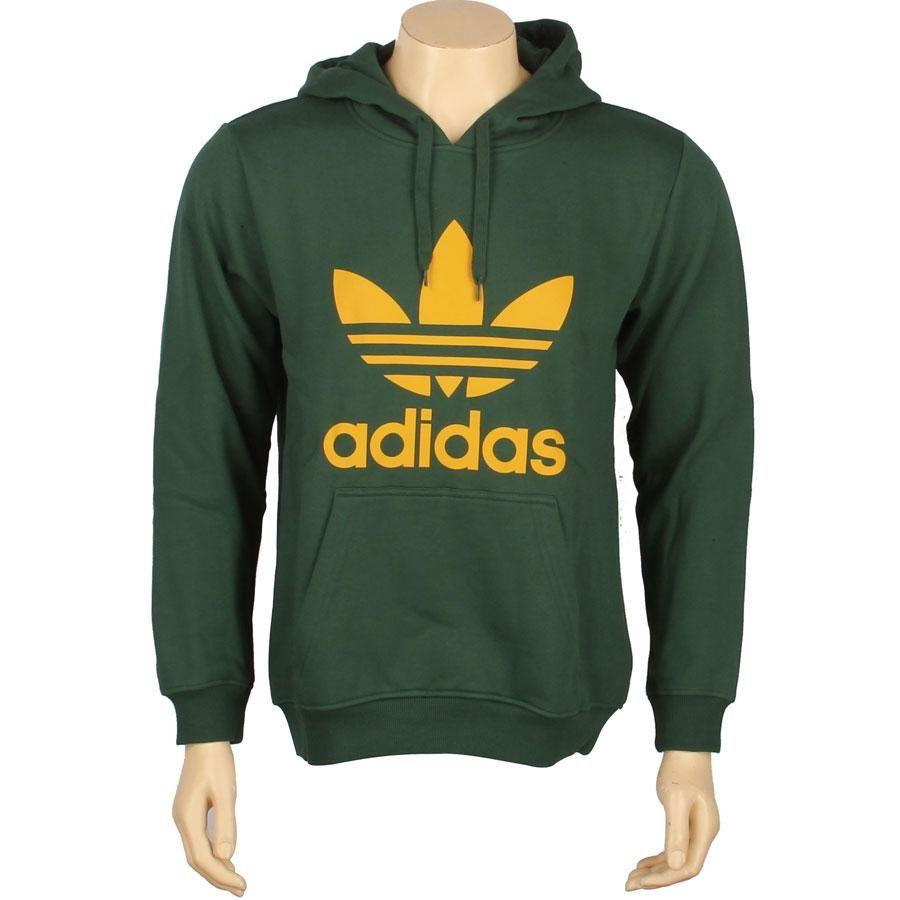 Adidas Trefoil Hoody (dark green   craft gold) X52700 -  54.99 ... fbf6a115f4