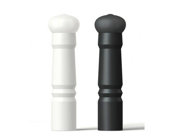 noir et blanc saliere poivrier aubecq