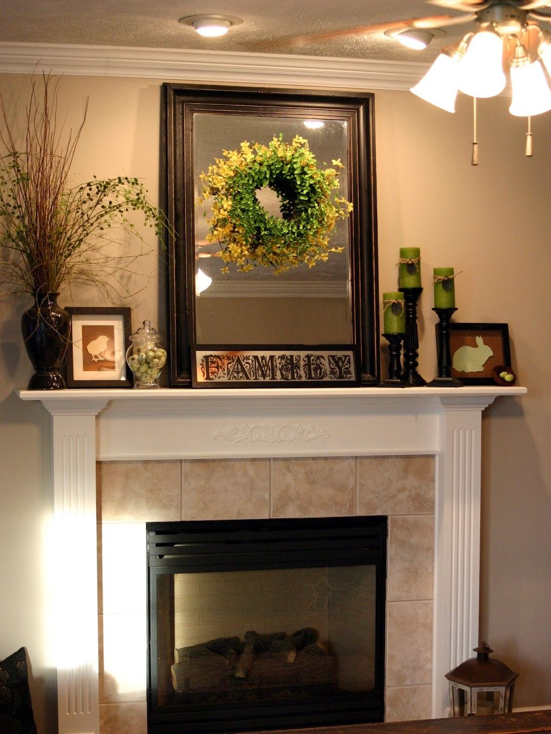 How To Decorate A Fireplace Mantle Christmas Decor For