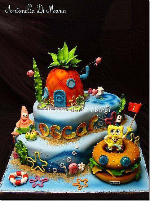 spectacular spongebob cake torten tolle torten und. Black Bedroom Furniture Sets. Home Design Ideas