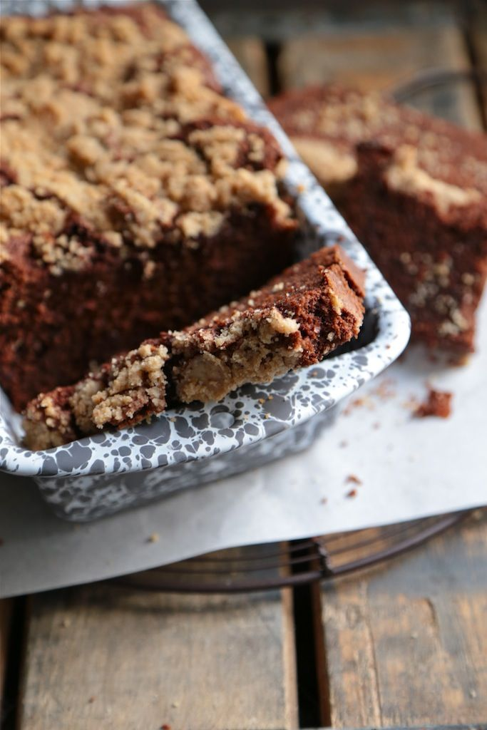 Double Chocolate Chip Gingerbread Streusel Pound Cake - www.countrycleaver.com