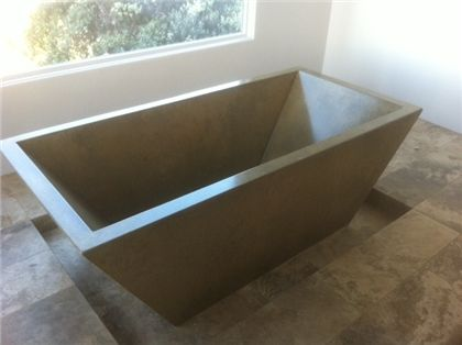 Bathtub Concrete Black Dc Custom Concrete San Diego Ca