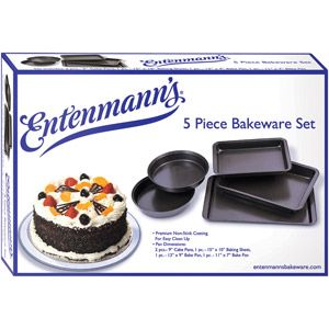 Entenmann S 5 Piece Bakeware Set Means Five Times The Baking