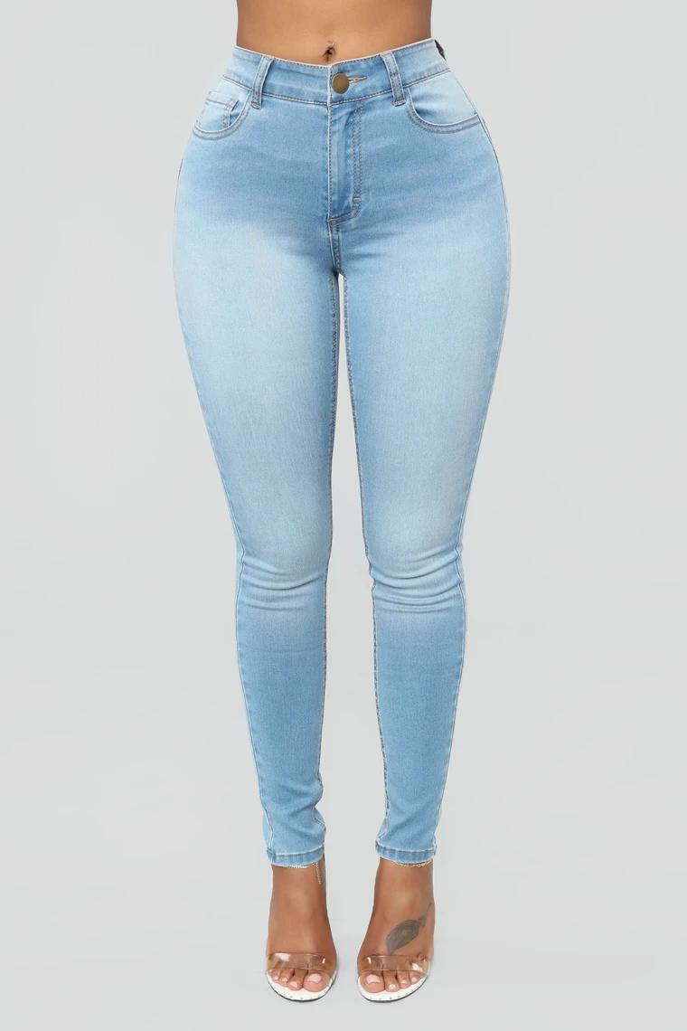 Alexa High Rise Skinny Jeans - Light Blue Wash