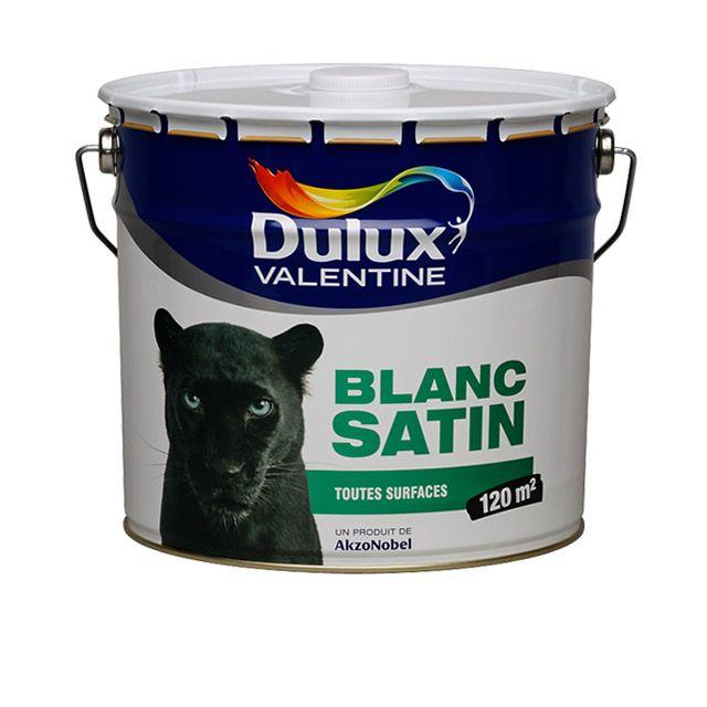 Peinture Dulux Valentine murs et plafonds 10 L Blanc satin - peindre plafond salle de bain