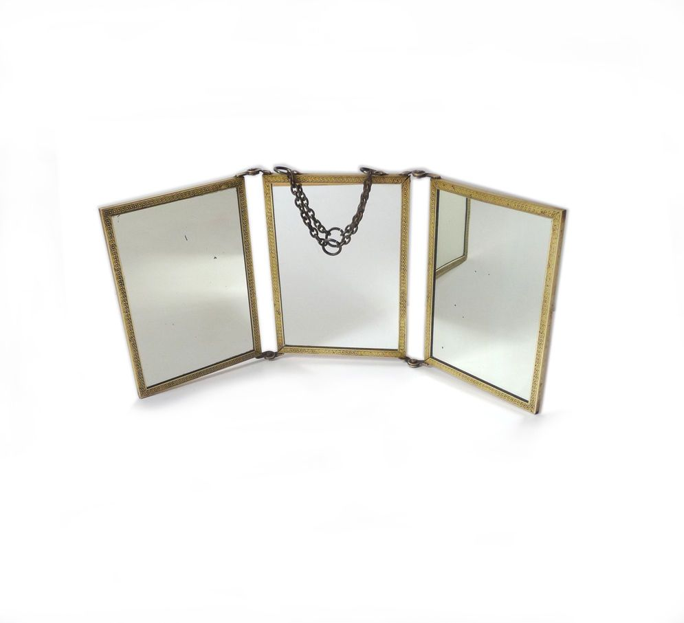 ancien miroir 3 volets du 19e french