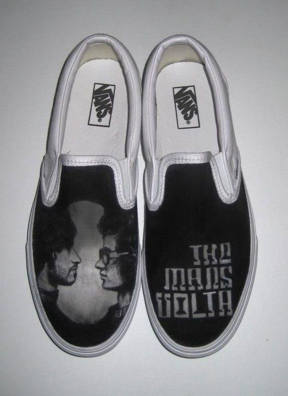 0fc04f9688 The Mars Volta Custom Vans Shoes by stabbyvonkillerstein on Etsy ...