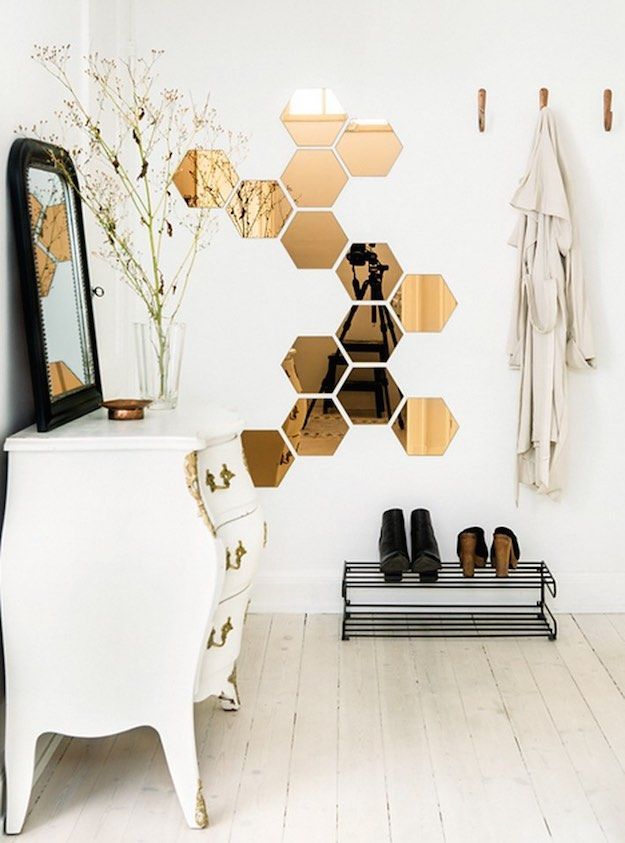 Honeycomb Hexagon Mirrors | Wall Decorations To Spruce Up Your Room