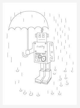 Rusty The Robot Coloring Page Printable Christmas Coloring Pages Printable Coloring Pages Coloring Pages