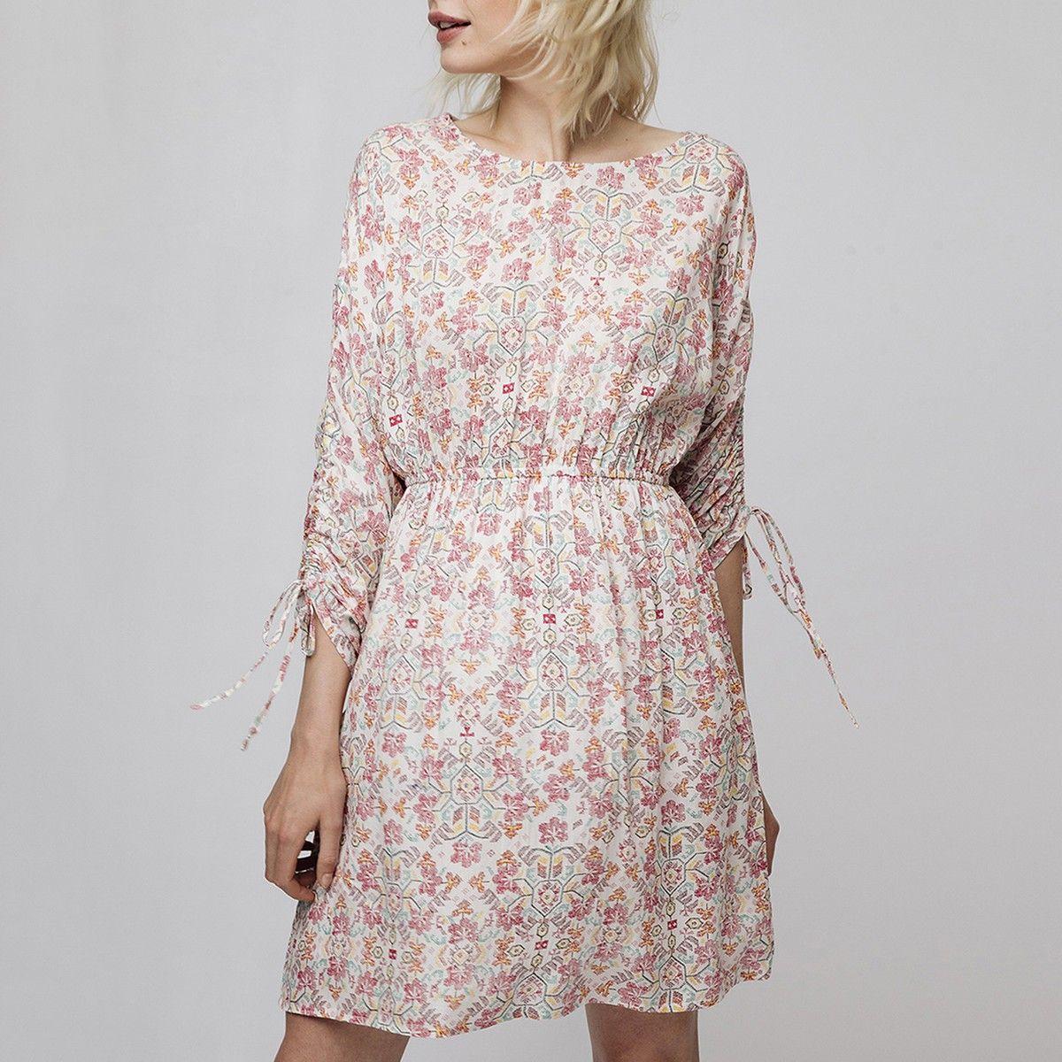 Kurzes Bedrucktes Kleid 3 4 Armel Kleider Modestil Kleid Mit Armel