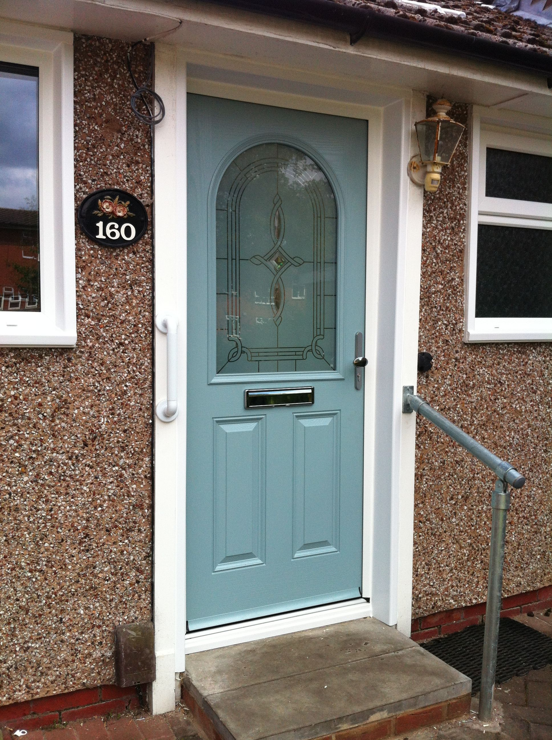 This Beautiful Duck Egg Blue Composite Door Was Fitted