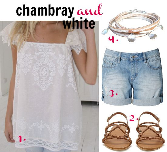 Summer colour combo: chambray and white