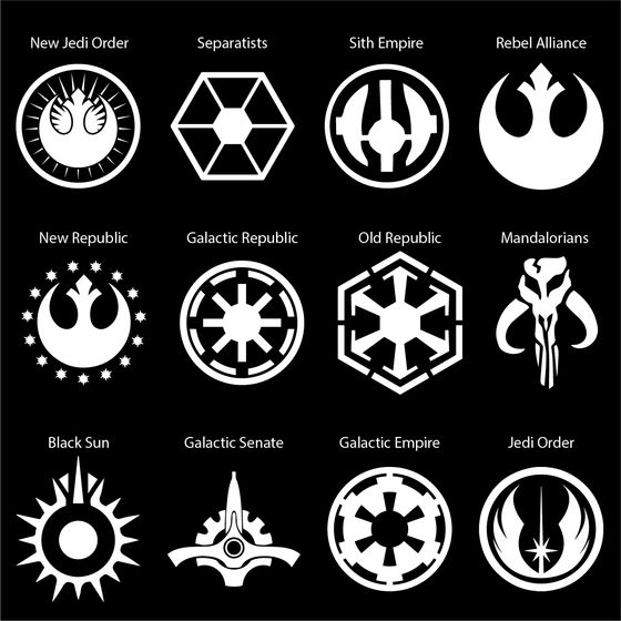 Star Wars Mandalorian Symbol Vinyl Decal Sticker Various Colours and Sizes