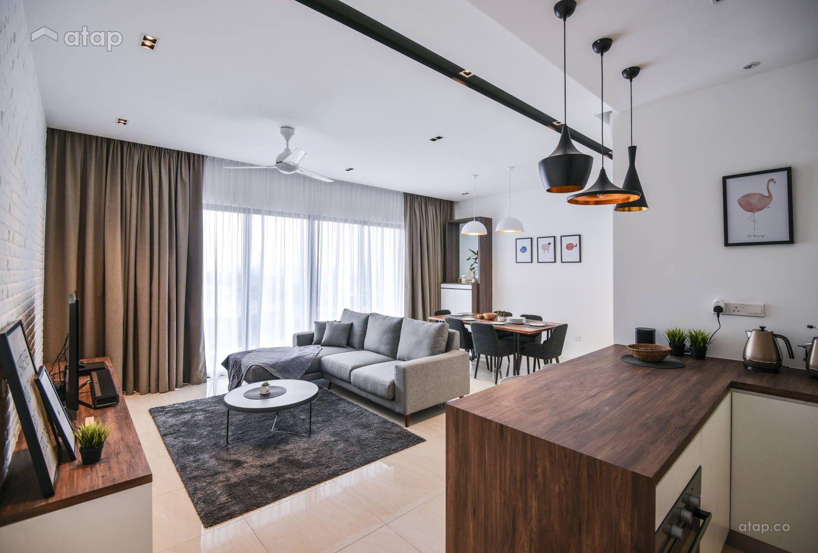 Minimalistic Modern Living Room Condominium Design Ideas Photos
