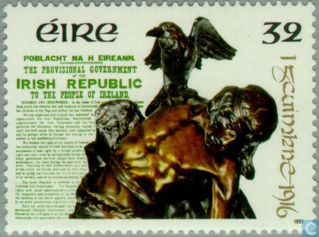 Postage Stamps - Ireland - Revolt in 1916 75 years