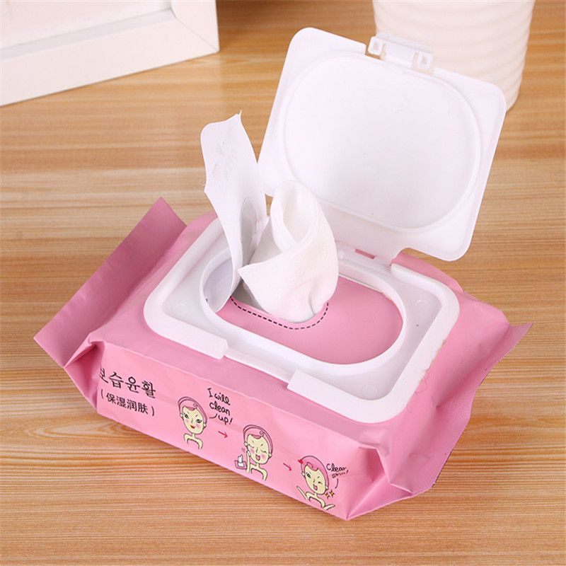 25 sheet/ Bags Eye & Lip Makeup Remover Wipes Disposable Wet Wipes Boxes Face Deep Cleansing Wipes Customized