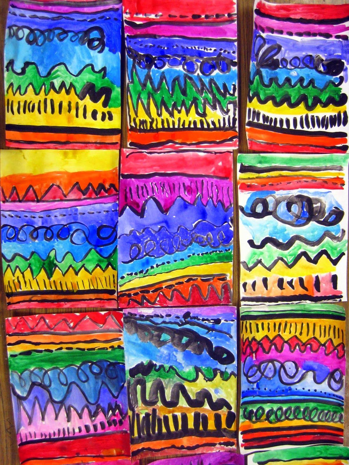 Color and art - A Kindergarten Art Unit On Line Color Shape Sculpture You Name It This Unit S Got It