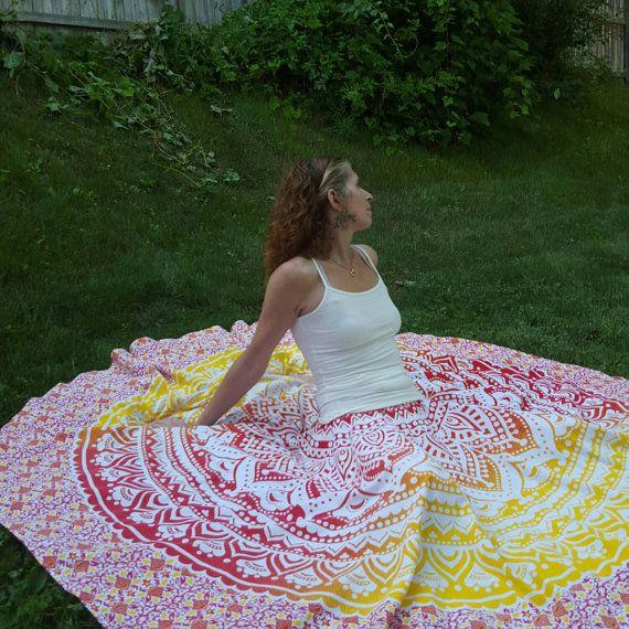 Mandala Tapestry MAXI SKIRT by BellBottomBleus on Etsy