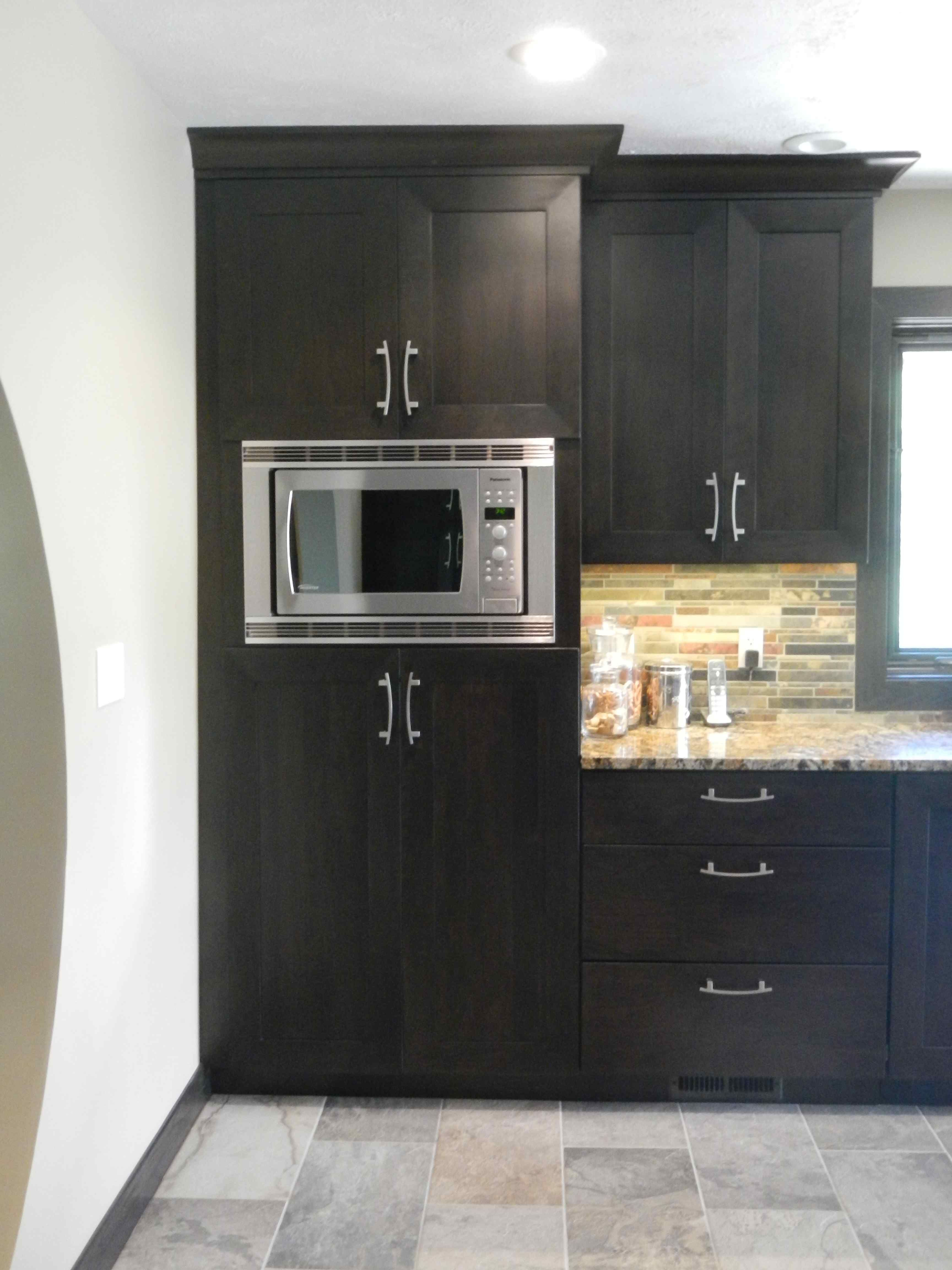 15 We Love Unique Built In Microwave Cabinet Layout Tall Kitchen