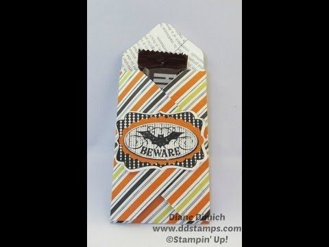 Envelope Punch Board Halloween Treat Holder