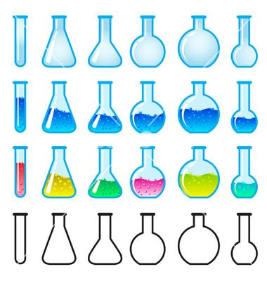 Photo About Set Of Chemical Science Equipment Illustration On White Background