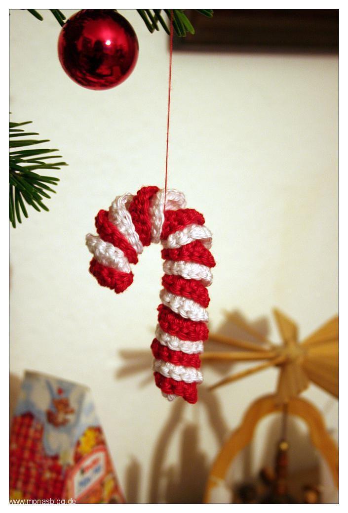 eine zuckerstange h keln last minute baumschmuck monas blog advent und weihnachten. Black Bedroom Furniture Sets. Home Design Ideas