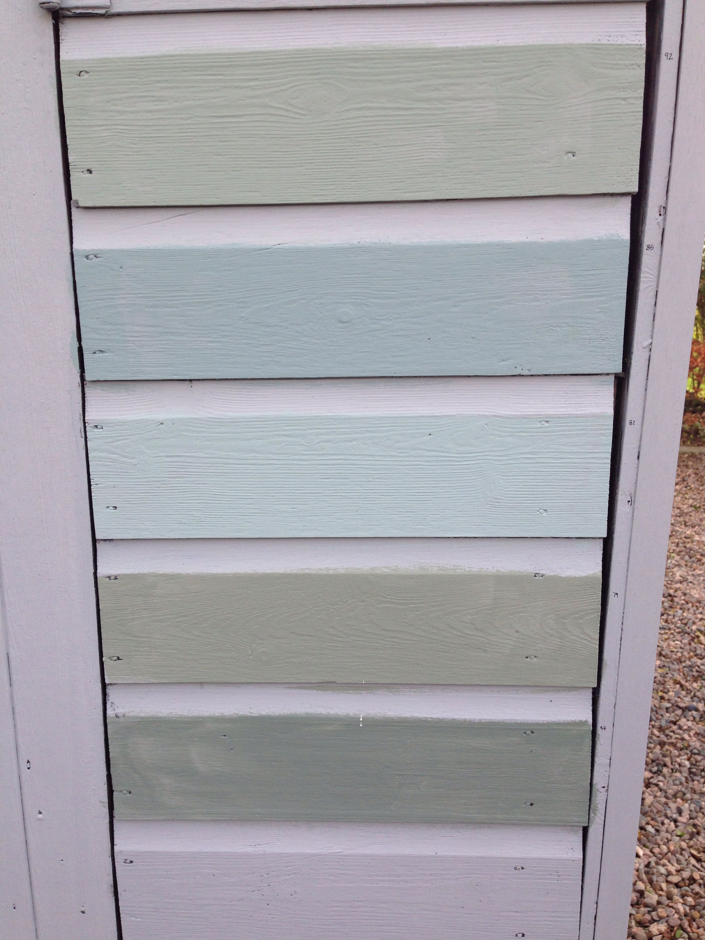 paint colours for the shed . from top. farrow and ball castle grey