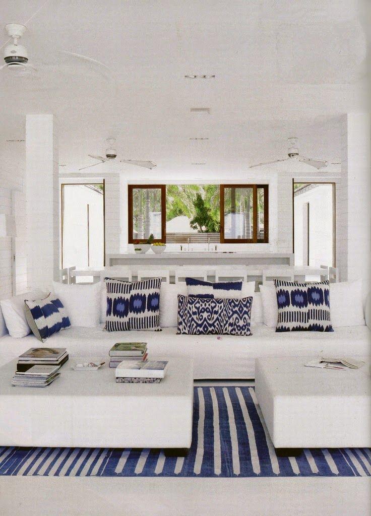 mavi beyaz yunanistan ev ic mekanlari ic mekan fikirleri home fashion