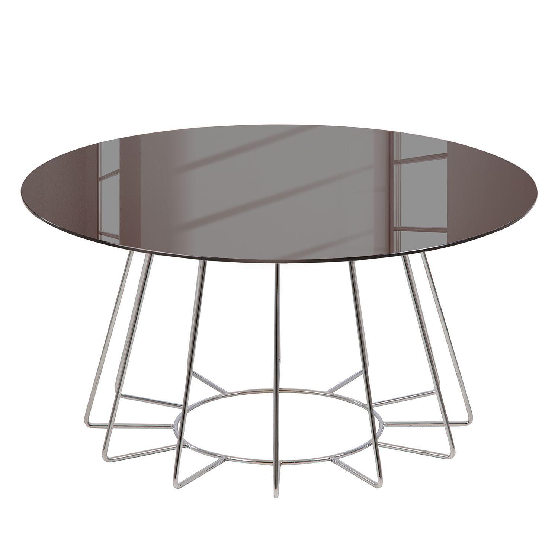 Entzückend Beistelltisch Glas Metall Galerie Von Couchtisch Motegi - / - Bronze /