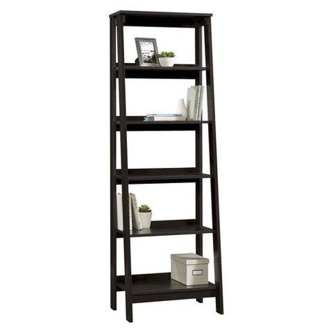 Bedroom Living Room 5 Shelf Trestle Bookcase Espresso Target 69 99