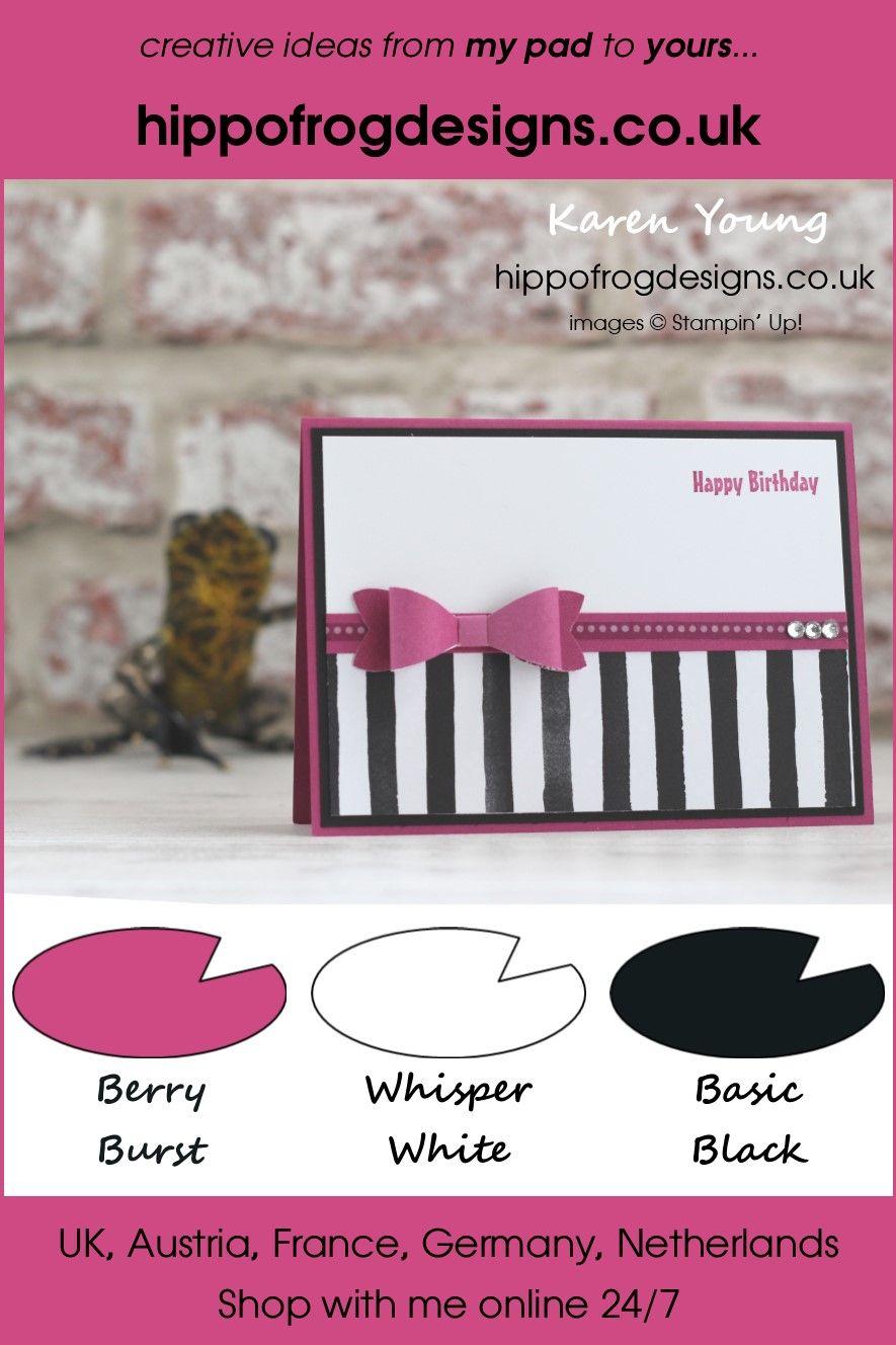 Berry Burst and Basic Black Birthday | Cards | Stampin up