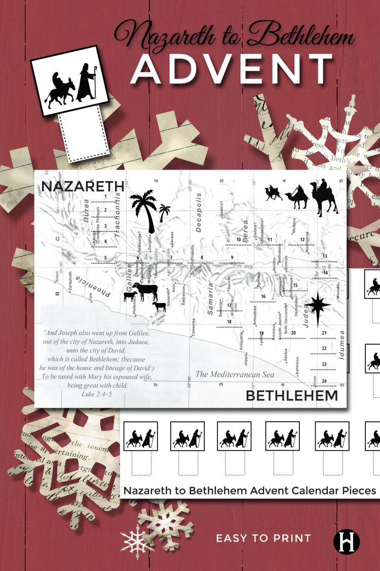 Nazareth to Bethlehem Advent Calendar. Move the Holy Family from ...