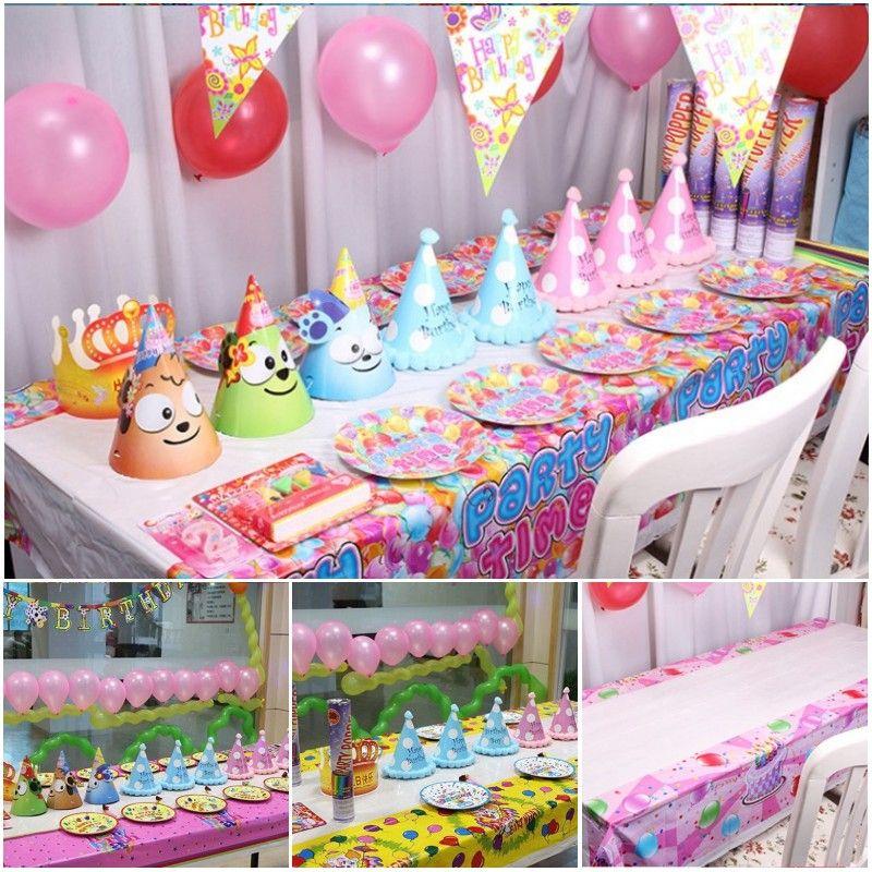 cute cartoon pattern child's birthday party table cloth pvc
