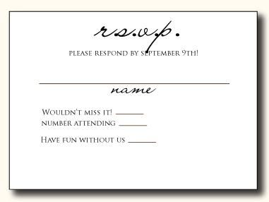 5 Types Of Wedding Rsvp Card Wording Paperblog