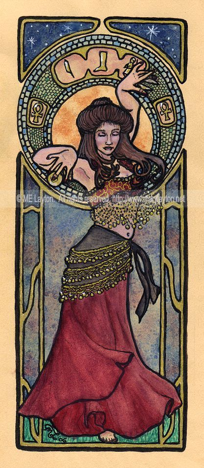 Nouveau Belly Dancer by *MaryLayton on deviantART