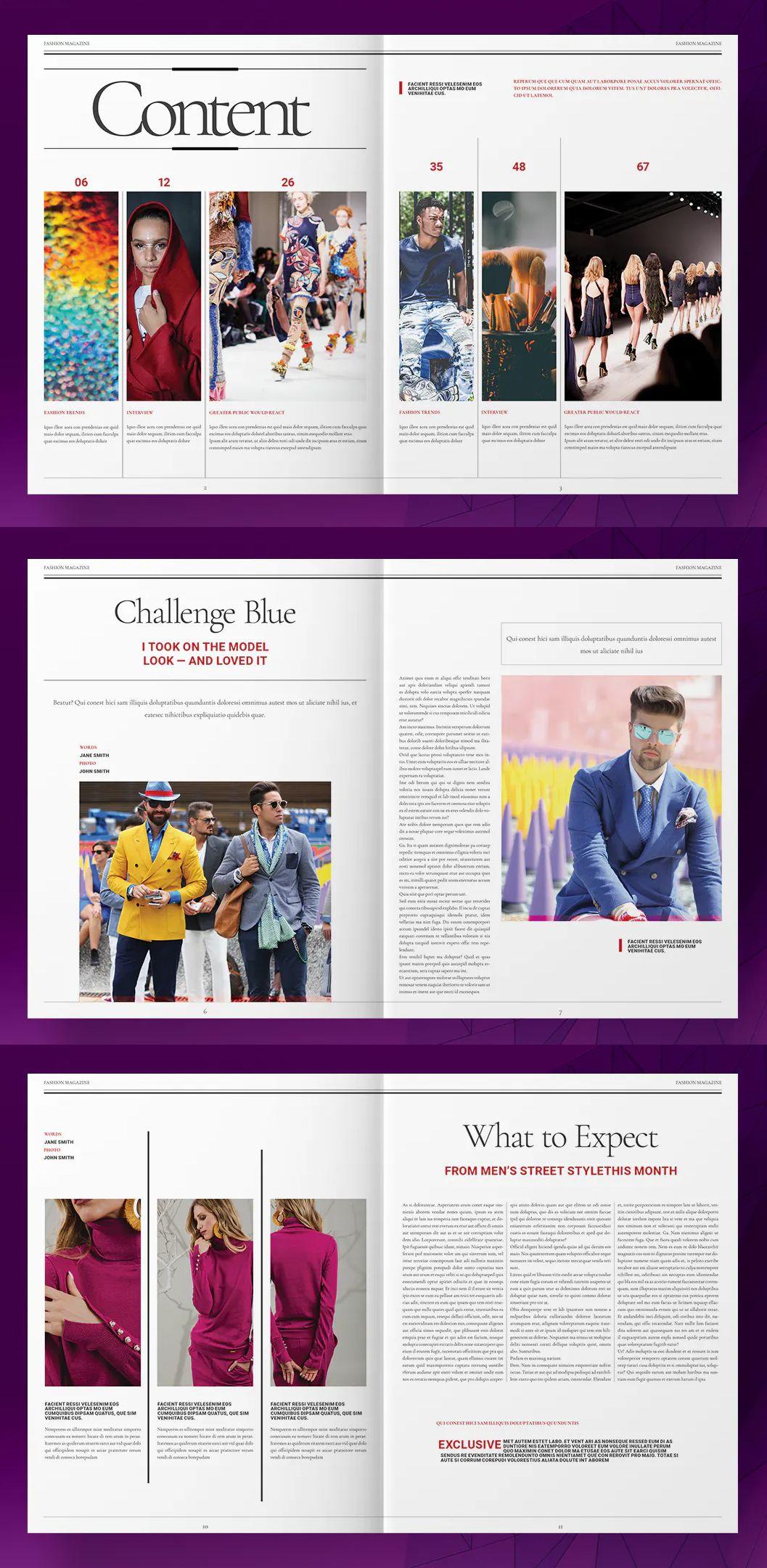 Pink Fashion Magazine Layout Indd Fashion Magazine Layout Magazine Layout Magazine Layout Design