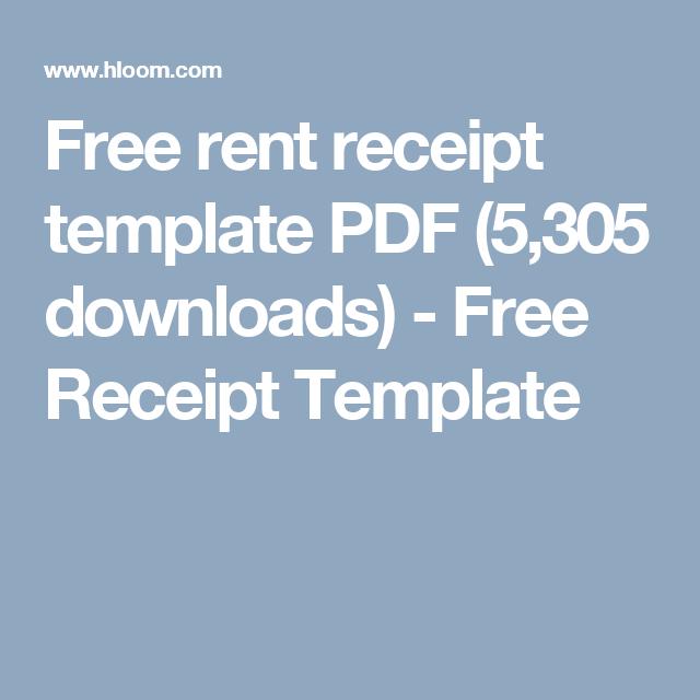 free rent receipt template pdf 5305 downloads free receipt template