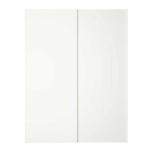 hasvik pair of sliding doors white meilleures id es portes coulissantes armoires et ikea. Black Bedroom Furniture Sets. Home Design Ideas