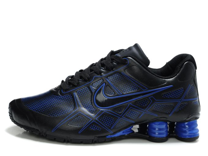 71caacd12b4 Nike Shox -Turbo12 Men Black Blue Shoes Nike Shox Turbo 12 running shoe  utilize lightweight and breathable materials that create Customized comfort  for ...