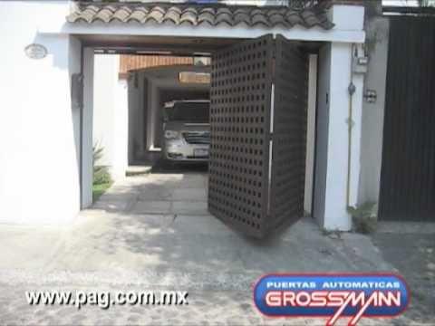 Puerta autom tica plegadiza hacia afuera 2 m dulos - Puertas automaticas para cocheras ...