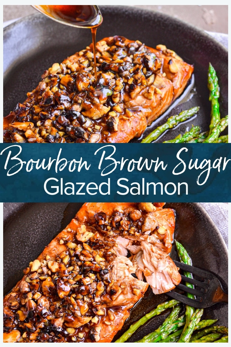 Bourbon Brown Sugar Salmon Recipe - The Cookie Roo