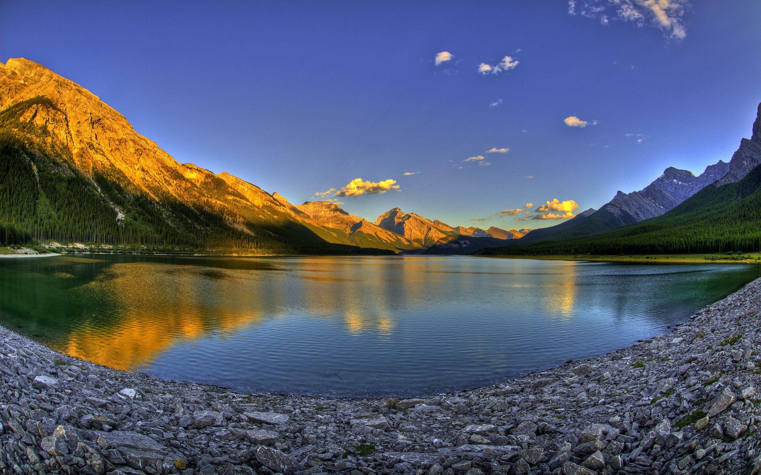 Moonrise Spray Lakes Reservoir Alberta Canada Wallpapers in jpg